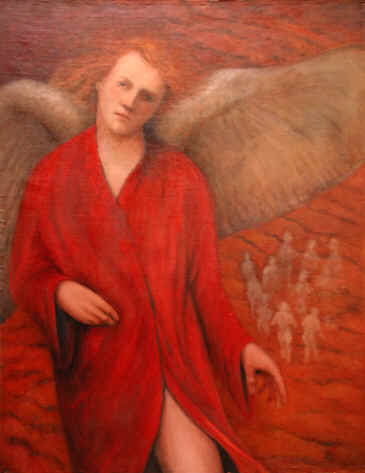 Figurative Painting--Title: Angel In Red