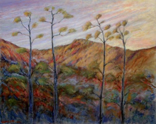 Figurative Painting--Title: Four Trees