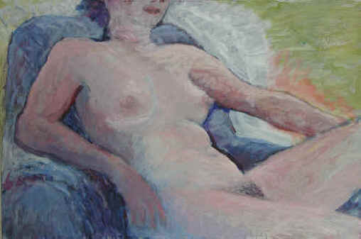 Figurative Painting--Title: Nude Model