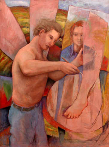 Figurative Painting--Title: Painting Angel