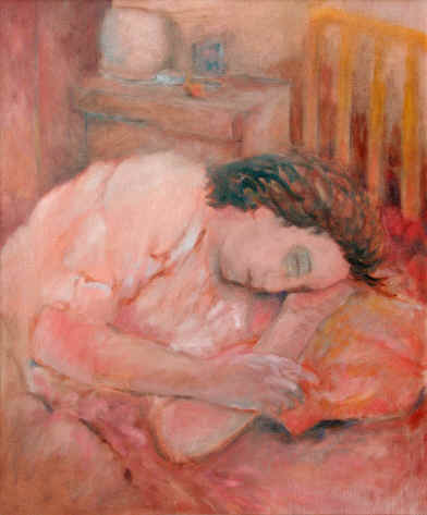 Figurative Painting--Title: Sleeping Woman