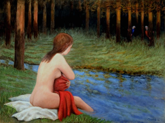 Figurative Painting--Title: Susanna and the elders