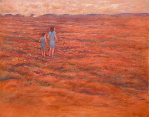 Figurative Painting--Title: Walkers